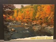Postcard Coos Canyon (Rangeley) Maine Famous Gold Panning Area unposted MS162A