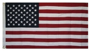 2.5x4 2.5'x4' ft 100% Sewn Embroidered USA American flag banner bunting grommets