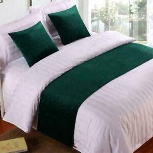 Luxury Velvet Bed Runner Scarf Bedding OR Cushion Cover Hotel Home Bedroom Decor