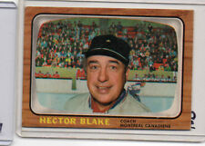 1966 67 Topps #1 Hector Toe Blake Canadiens FIRST CARD inSET Near Mint SET BREAK