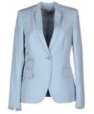 STELLA MCCARTNEY Powder Light Blue Blazer Lined 38 2 4