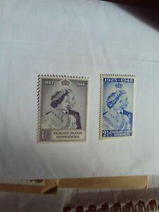 GEORGE VI 1948 SILVER WEDDING FALKLAND ISLANDS DEPENDENCIES UN MOUNTED MINT