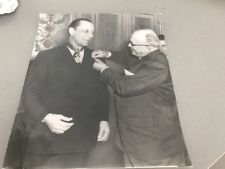 LOUIS JOUVET et VINCENT AURIOL - PHOTO DE PRESSE ORIGINALE  18x20cm