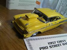 Danbury Mint 1957 Chevy Pro Street Hardtop 1/24 scale yellow  diecast car