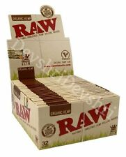 RAW Organic Hemp King Size Slim Smoking Cigarette Rolling Papers Authentic Vegan