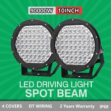 Pair 90000W 10inch LED CREE Driving Lights Soptlight OffRoad Truck 4X4 HID Black