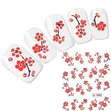 Tattoo Nail Art Glitzer Kirschblüten Japan Aufkleber Nagel Sticker Neu!