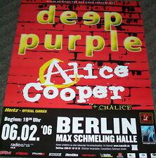 DEEP PURPLE & Alice Cooper Tour Poster BERLIN 06.02.2006