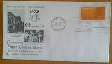 First day of issue, 1973 Canada Commemorating Prince Edward Island Centennial