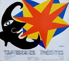 CALDER Alexander affiche Lithographie Mobile Abstraction art abstrait Tapisserie
