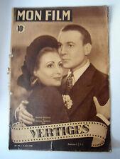 """>Mon Film n°94 du 2/06/1948 """"Vertiges"""" avec R. Rouleau et M. Francey"""