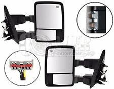 Fits Ford F250 F350 F450 Side Towing Mirrors | Clear Turn Signal | Power Heated