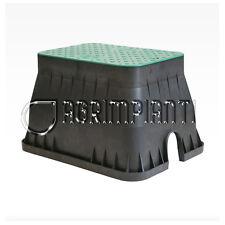 Pozzetto rettangolare per elettrovalvole - coperchio con bordo - irrigazione