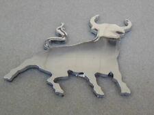 3D chrom Auto Aufkleber Stier El Torro verchromte Sticker Toro verchromter