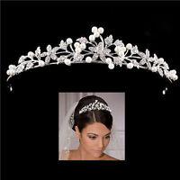 Brautschmuck Tiara Braut Haarschmuck Haarband Haarreif Hochzeit Diadem Krone liu