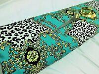 *NEW*Stretch Viscose Jersey Animal/Damask Print Dress/Craft Fabric*FREE P&P*