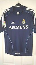 Camicia calcio da uomo-REAL MADRID-ADIDAS-AWAY 2005-2006 - Dark Blue-Taglia S