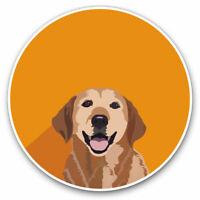 2 x Vinyl Stickers 7.5cm - Yellow Labrador Cartoon Dog Cool Gift #12892