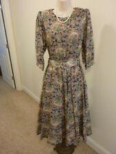 Lanz Originals Soft Floral Belted Waist Dress Sz S/M