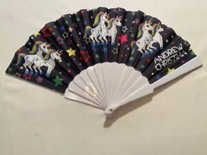 "SALE   ""Andrew Christian"" Unicorn Fan - Black & PRIDE Colors (8490)"