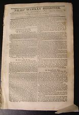 """Niles' Weekly Register July 30, 1831~Taxation of Slaves ~ """"Colored"""" War Veteran"""