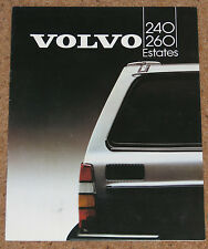 1983 VOLVO 240/260 ESTATES Sales Brochure - 240 GL GLT GLE, 260 GLE