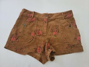 Lucca Couture Women's Corduroy Floral Shorts Size 28