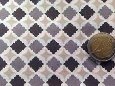 coupon de tissu  PUR coton    imprimé  mosaique gris beige  : 3.00 m ; Ref  MO