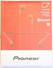 Pioneer C7 Red SE-C7BT(R) In-Ear Wireless Neckband Design Headphones. NEW!