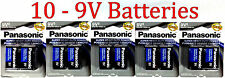 10 Wholesale 9V Panasonic 9 Volts Batteries Battery Super Heavy Duty Lot