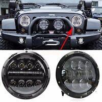 Pair GQ PATROL Black 7Inch E9 Approved LED Headlight Nissan Ford Maverick MQ G60