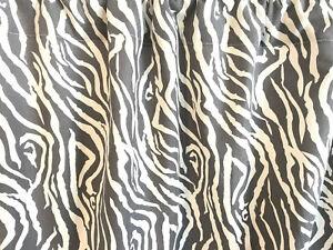 Valance Zebra Gray Soft White Window Treatment 42 W x 14 L Handmade