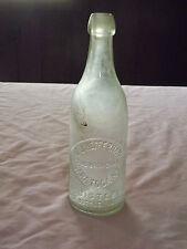 "VINTAGE  1800S-EARLY 1900S 9 1/4"" E J HEFFERNAN SARATOGA NY BLOB TOP SODA BOTTLE"