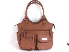 MultiSac Brown Hobo Purse Vegan Leather Tote tan organizer pockets handbag