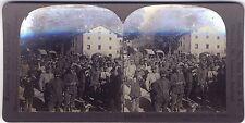 Grande Guerre WW1 Avions Italie Stéréo Photo Vintage argentique
