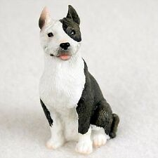 Pit Bull Terrier Brindle Tiny Dog Figurine