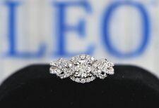 $5,950 The Leo Diamond 14K White Gold 0.98ct Round Engagement Ring Band Size 4