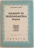 CONTARDO BAFFI ELEMENTI DI TRIGONOMETRIA PIANA MATEMATICA SCIENZE TRIGONOMETRY