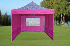 10'x10' Pop Up Canopy Party Tent - Pink Zebra - F Model Upgraded Frame