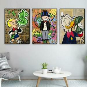 Alec Monopoly Money Graffiti Art Paintings On The Wall Art Posters And Prints