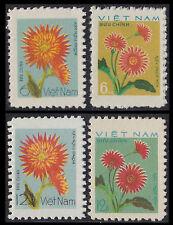 Rep Socialiste VIETNAM N°114/117** Fleurs, 1978 Vietnam Sc#921-924 Flowers MNH