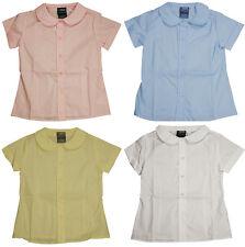 French Toast Uniform Girls 4-20 Short Sleeve Feminine Fit Peter Pan Blouse