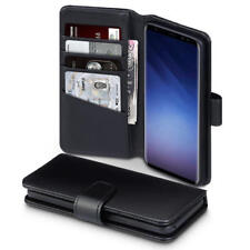 Terrapin Real Leather Wallet Case for Samsung Galaxy S9 - Black