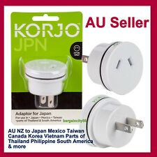 KORJO Travel Plug Adaptor from Australia /New Zealand to Japan (JA06)