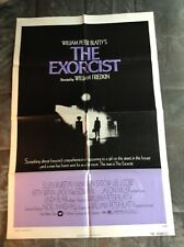 The Exorcist original 1974  one sheet mint condition folded never used, rare.