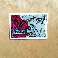 New Deal skateboards vinyl bumper original Andy Howell art street nose mouth SK8