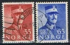 Noorwegen gestempeld 1957 used 416-417 - Koning Haakon VII (2)