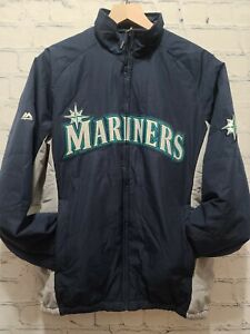 Mens Majestic Seattle Mariners Insulated Jacket Navy Blue Baseball Size Small S