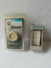 Vintage Rotary Dimmer Switch & Combination 2 Single Pole Switches