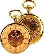 Open Face Gold Plated Pocket Watches with Roman Numerals